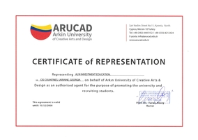 ARUCAD Certificate of Representation ALVI Georgia and CIS