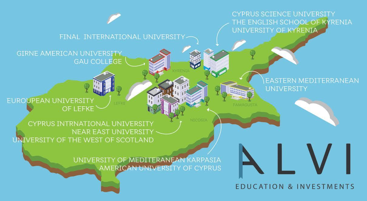 ALVI Investment Education And Investments In Northern Cyprus - Northern cyprus map